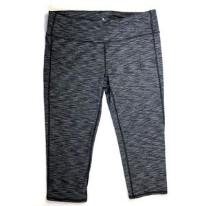 Athleta Chaturanga Capri in Grey Spacedye